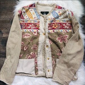 Orvis vintage quilted patchwork light fall jacket